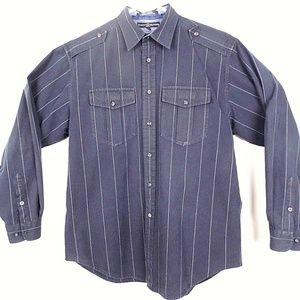 Tommy Hilfiger Shirts - TOMMY HILFIGER Men's L/S Button Up Shirt Black J39